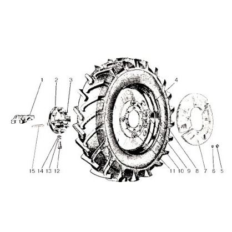50-3107050 Disc rear dw8h42 narrow mtz umz wheel from Motor-Agro Kharkiv Ukraine