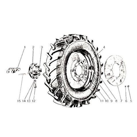 50-3107050 Диск МТЗ-ЮМЗ колеса заднего ДW8х42 узкий(шт) купить в интернет-магазине Мотор-Агро Харьков Украина