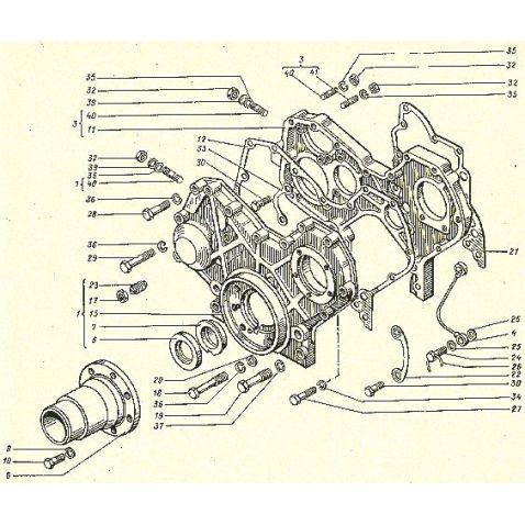 14-0201 Картер зубчатых колес двойной(шт) от Мотор-Агро Харьков Украина