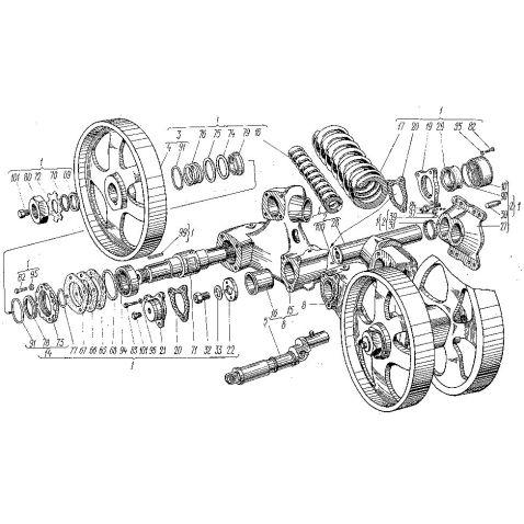 150.31.012-1Б Каретка Т-150(шт) купить в интернет-магазине Мотор-Агро Харьков Украина