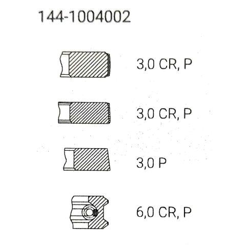 Д144-100.4060-Б3 Piston rings d-144 (buzuluk-buzuluk czech republic (set) from Motor-Agro Kharkiv Ukraine