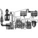 Power supply system, cooling, lubrication and exhaust gases