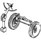 Airborne transmission of the front axle and others.