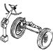 Airborne transmission of front axle and others.