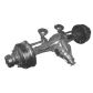 Axle front and rear axle