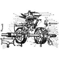 ᐉ Rear Axle from Motor-Agro
